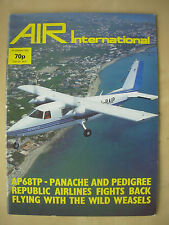 AIR INTERNATIONAL MAGAZINE NOVEMBER 1982 AERITALIA AP68TP