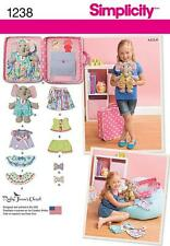 SIMPLICITY SEWING PATTERN Ellie The Elephant with Clothes and Carrying Case 1238