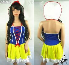 Halloween Girl Sexy Princess SnowWhite Fairytale Cosplay Carnival Party Costume