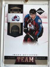 2011 - 12 Matt Duchene Team Trade Marks Limited Hockey Card Serial Num. #211/299