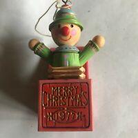 1977 Hallmark Ornament Vintage Jack in the  Box Yesteryears