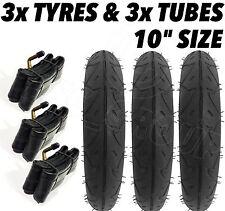 "3 x Pram Tyres & 3 x Tubes 10"" x 3 Quinny Buzz Speedi Huack Roadster 10"""