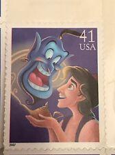 USPS The Art Of Disney Magic Aladdin and Genie 2007 41 Cent Stamp