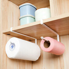 Under Cabinet Paper Towel Holder Hanging Stainless Steel Kitchen Organizer Rack