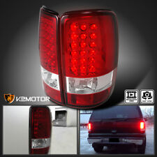 2000-2006 GMC Yukon Denali XL Red Lens LED Tail Lights Brake Lamp