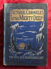 MARITIME HISTORY OCEAN SEA 1890 NAVIGATION SHIPWRECK NAVY PIRATE SAIL BOAT SHARK