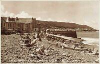 Real Photo Devon Postcard, Westbourne Terrace, Slipway & Beach, Westward Ho IV8