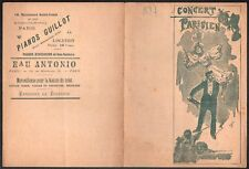 Faria. Programme Concert Parisien. 1897. Mayol, Dranem. Caf' Conc'