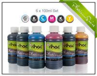 RIHAC Refill ink suits Canon MP980 MG6150 PGI-520 PGI-525 CLI-526 CLI-521 Grey