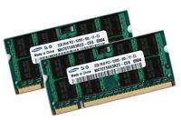 2x 2GB 4GB RAM DDR2 200 pin 667 Mhz Notebook Arbeitsspeicher SODIMM PC2-5300S