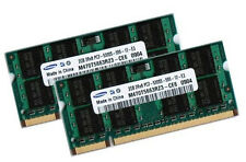 2x 2gb 4gb ram ddr2 200 broches 667 MHz Ordinateur portable mémoire sodimms pc2-5300s