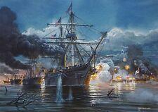 """A Louisiana Welcome"" Tom Freeman Civil War Artist Proof - U.S.S. Hartford 1862"