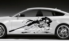 CAR SIDE DECALS ANIME MANGA GIRL STICKER FOR BOTH SIDES CAR VINYL WRAP D1689