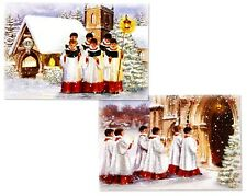 PACK OF 12 CHOIR CHRISTMAS CARDS IN 2 DIFFERENT DESIGNS - BRAND NEW