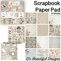 Scrapbooking Paper Pad 24x Card Stock 25.5X25.5cm Sheets For DIY Handmade Crafts