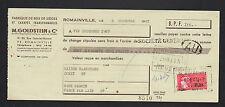 """ROMAINVILLE (93) USNE de SIEGE & CANAPE """"M. GOLDSTEIN"""" en 1967"""