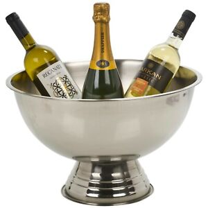 Large Stainless Steel Party Bowl Metal Champagne Wine Beer Ice Bucket Cooler Tub