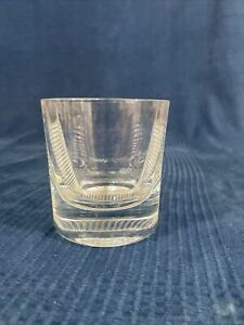Cristal de Whisky de Cristal Firmado Forma De Diseño Vintage