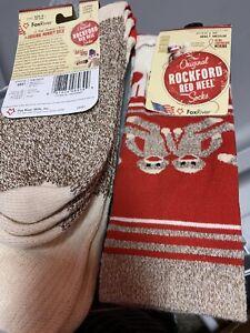 Original Rockford Red Heel Striped Monkey Socks Medium