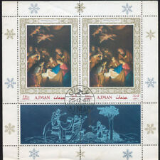 AJMAN MINI SHEET OF 2 1968 CHRISTMAS