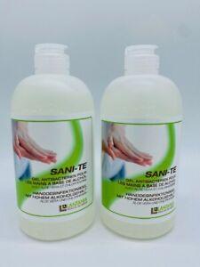 SANI-TE  2x 500 ml Handdesinfektionsgel mit ALOE VERA und 70 % Alkohol