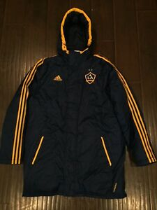 VTG🔥 Adidas MLS Los Angeles Galaxy Player Parka Blue Coat Sz L Large Champions