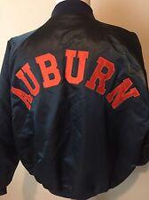Vintage Auburn University Tigers Satin Jacket NCAA Football Chalk Line Mens XXL