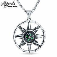 LEGENDS Fashion Positionable Compass Men Women Pendant Necklace