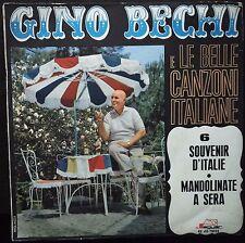 Gino Bechi E Le Belle Canzoni Italiane N. 6 Souvenir D'Italie  45 giri  VG+/EX+