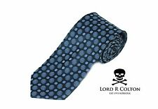 Lord R Colton Basics Tie - Charcoal & Slate Blue Woven Necktie - $59 Retail New