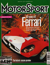 Motor Sport Apr 1997 - 50 Years of Ferrari F40 GTO F50, Ford Escort RS Cosworth