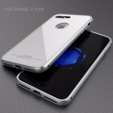 LUPHIE Metal Bumper Frame + Tempered Glass Back Cover Case For iPhone 7 / 7 Plus