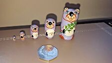 Russian Doll Matryoshka PANDA MINI Nesting Doll, 5 dolls set