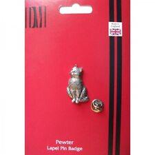 A15 Cat English Pewter Lapel Pin Badge XTSPBA15