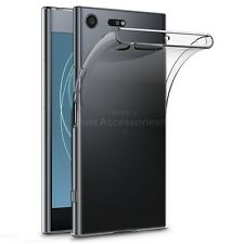 for Sony Xperia XZ Premium Clear Slim GEL Case Tempered Glass Screen Protector