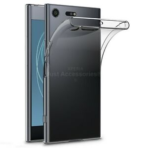 For Sony Xperia XZ Premium - Clear Gel Case and Tempered Glass Screen Protector