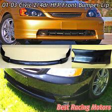 HFP Style Front Bumper Lip (Urethane) Fits 01-03 Honda Civic 2/4dr