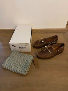 Yuketen Schuhe Antler Moc w/ Concho Brown Mens Shoes 10E TOP ZUSTAND WIE NEU!