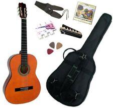 MSA Pack Guitare Classique 4/4 avec Accessoires (Housse, Jeu de Cordes, Accordeur, Sangle, 3 Médiators)
