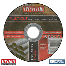 "10 x Angle Grinder Cutting Discs (4.5"") 115mm x 1mm Thin METAL STONE STEEL PVC"