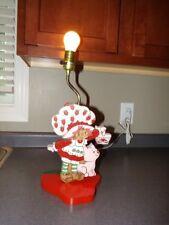 AMERICAN GREETINGS Vintage STRAWBERRY SHORTCAKE & CUPCAKE Wooden TABLE LAMP