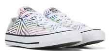 Converse Women's Chuck Taylor All Star metallic rainbow lo top white sneakers