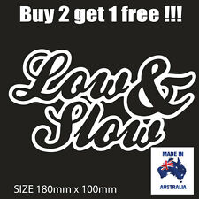 LOW AND SLOWJDM POPULAR CAR STICKER