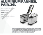 100% Genuine Royal Enfield HIMALAYAN PANNIER PAIR , SILVER With Free Oil Filter