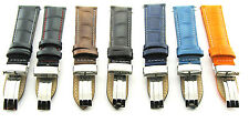 17-18-19-20-21-22-23-24MM LEATHER BAND STRAP DEPLOY CLASP FOR MAURICE LACROIX #1
