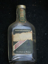 Early 1930's OLD FITZGERALD Whiskey Bottle Mini 100 proof Bottled in Bond B