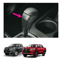For Toyota Hilux Revo Rocco 4Dr 15 19 Genuine Leather Gear Knob Automatic Carbon