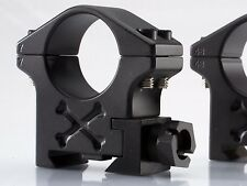 Talley Picatinny / Tactical Scope Rings, 36MM Ex-High, Black Armor -  BAT36H