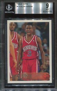 1996 Topps Basketball #171 Allen Iverson Rookie BGS 9 Mint  HOF
