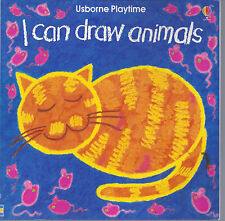 I CAN DRAW ANIMALS Usborne Kids How to Drawing Book*2.95 SHIPS ORDER*Build a Lot